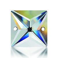 Стрази пришивні Asfour Квадрат 14мм. Crystal