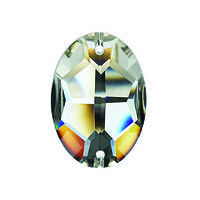 Стразы пришивные Asfour Овал 10мм. Crystal, фото 1