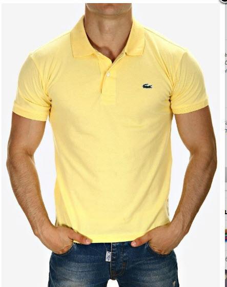 "Мужская футболка Lacoste Polo Rood Slim Fit ""Yellow"" ( в стиле Лакоста )"