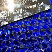 Стразы пришивные Круги 14мм. Sapphire