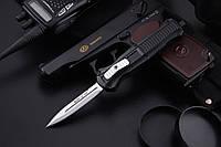 Нож выкидной с алюминиевой рукояткой с автоматическим замком  (170175)