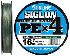 Шнур Sunline Siglon PE х4 150m (темн-зел.) #0.6/0.132mm 10lb/4.5kg