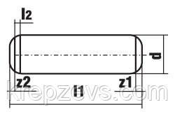 Чертеж штифта DIN 6325