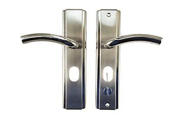 Ручка для металлических дверей FZB - HY-A1805 (1818) SN (сатин), левая дверь (15-147-01)