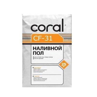 Стяжка для пола Корал ЦФ 31 (Сoral CF 31) (25 кг)