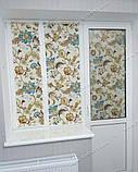Рулонные шторы Богема синий, фото 7