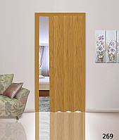 Дверь гармошкой глухая. Цвет: дуб №269 2030мм/810мм/6мм
