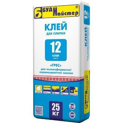 Клей для керамогранита Будмайстер КЛЕЙ-12 (25 кг)