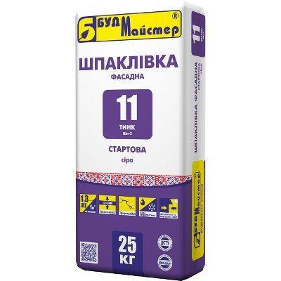 Шпаклевка цементная Будмайстер ТИНК-11 старт (слой 1,5-5 мм) серая (25 кг)
