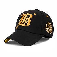 Бейсболка BLUEMOUNTAIN BURISIL черная, кепка блайзер