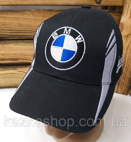 Подростковая стильная кепка с вышивкой логотипа автомобиля NMW, 52-54 размер, с регулятором, фото 2