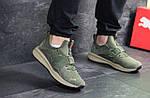 Мужские кроссовки Puma (темно-зеленые) , фото 2