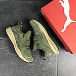 Мужские кроссовки Puma (темно-зеленые) , фото 6