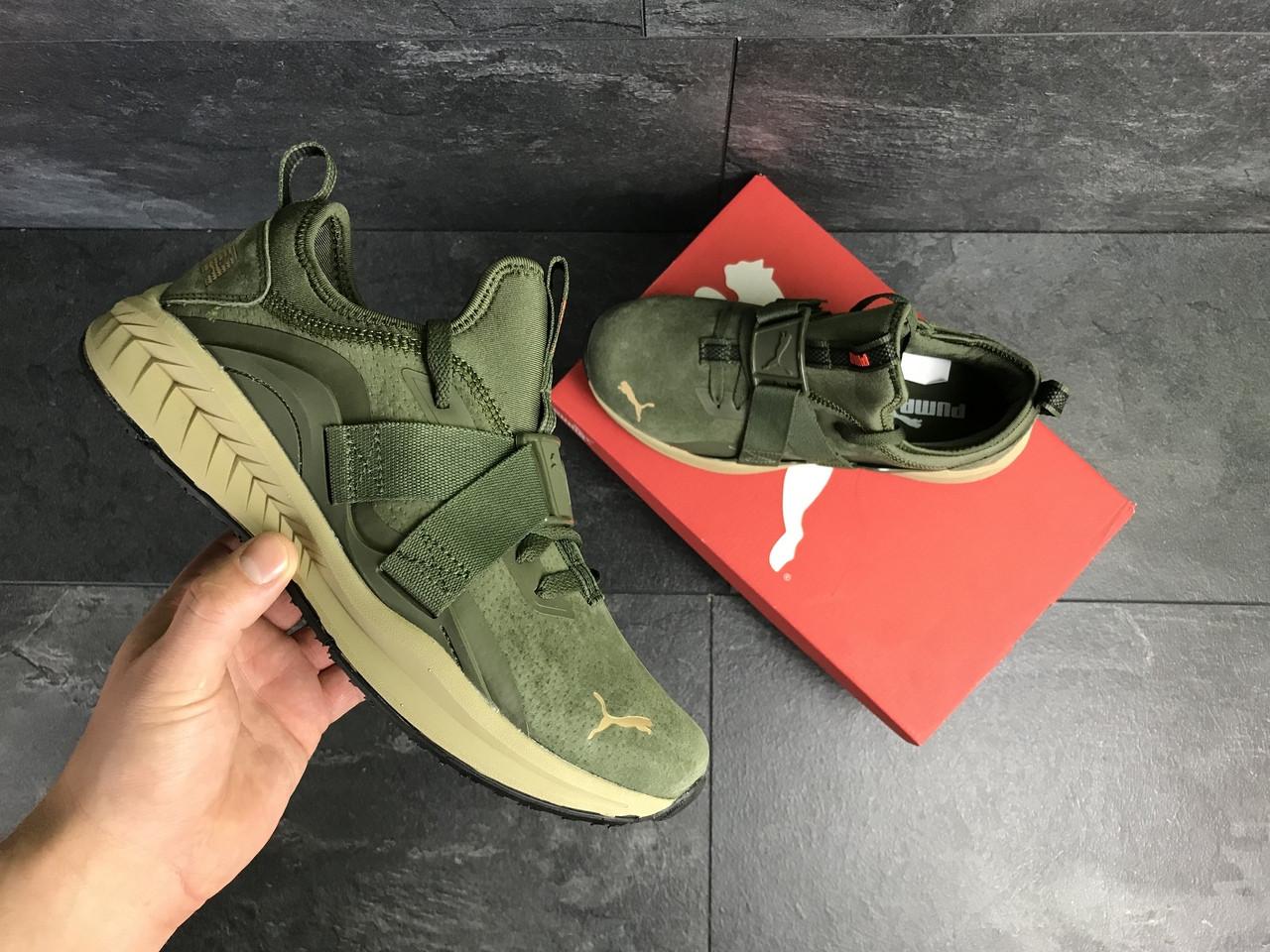 Мужские кроссовки Puma (темно-зеленые)