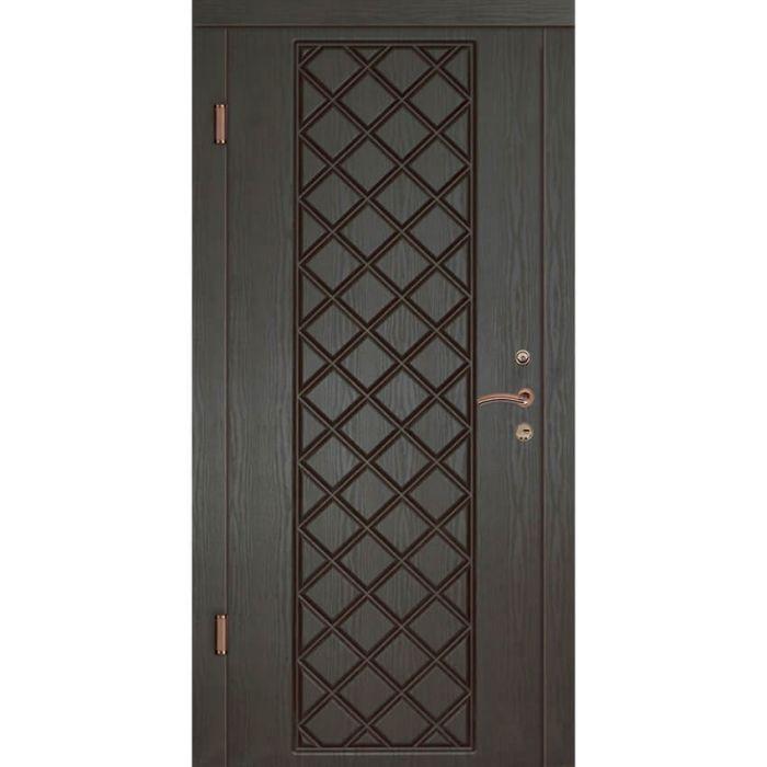 Двери квартирные, серия Люкс, модель Мадрид, гнутый профиль, коробка 100 мм, полотно 76 мм, Гардиан 1001