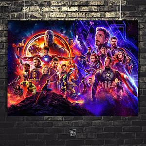 Постер Мстители: Финал, Avengers: Endgame. Размер 60x44см (A2). Глянцевая бумага