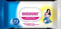 Влажные салфетки с пластиковой крышкой для детей с экстрактом календулы и витамином Е, 72 шт.
