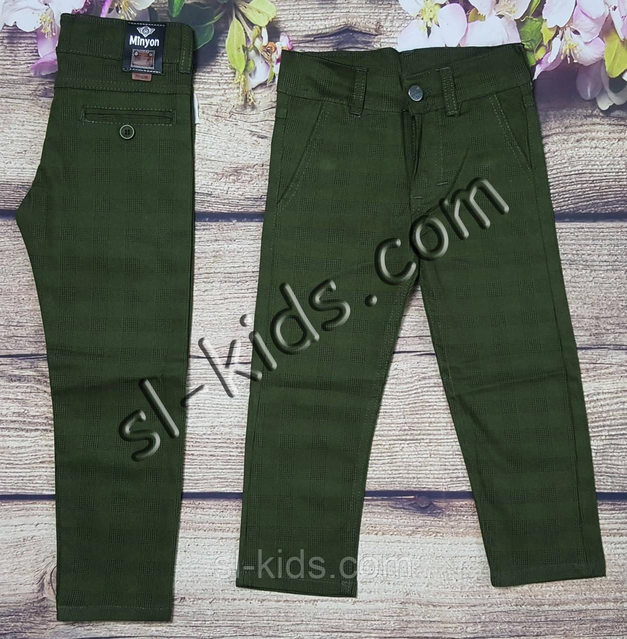 Яркие штаны,джинсы в клетку для мальчика 8-12 лет(хаки) опт пр.Турция