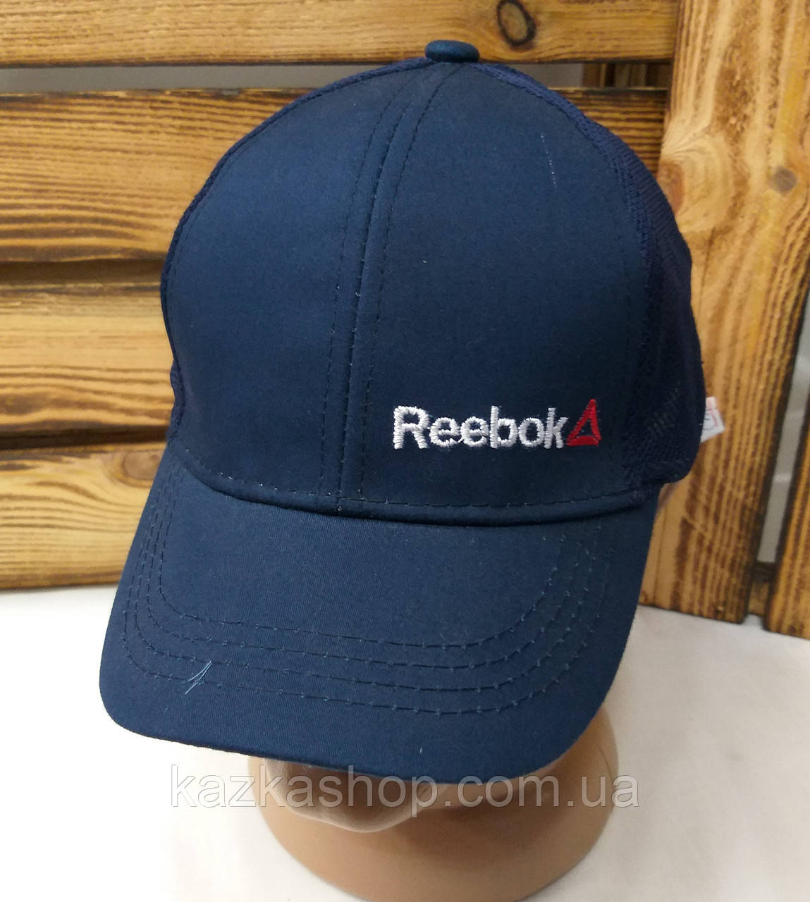 Подростковая стильная кепка с вышивкой в стиле Reebok (реплика), сзади сетка, 52-54 размер, с регулятором