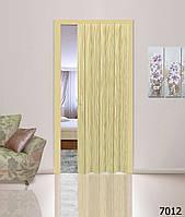 Дверь гармошкой глухая. Цвет: сосна №7012 2030мм/810мм/6мм