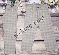 Яркие штаны,джинсы в клетку для мальчика 8-12 лет(бежевые) опт пр.Турция, фото 1