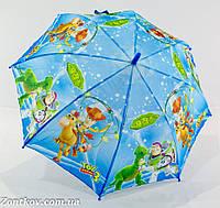 """Детский зонтик трость на 5-8 лет от фирмы """"LoveRain""""."""