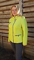 Салатовая куртка женская демисезонная, большие размеры