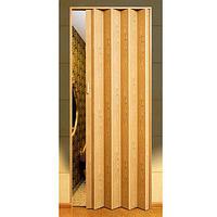 Дверь гармошкой глухая. Цвет: дуб светлый №802 2030мм/810мм/6мм