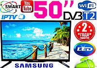 "Телевизор 50"" Samsung SmartTV LED! IPTV, Android, T2, WIFI, USB, КОРЕЯ, Гарантия 2 года!"