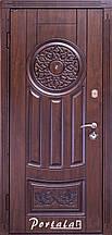 Двери уличные, серия Люкс, VINORIT, модель Оскар АМ-7, гнутый профиль, коробка 100 мм, полотно 76 мм, патина