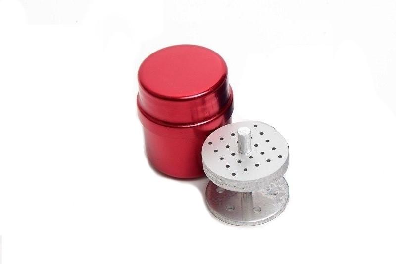 Стерилизатор - подставка для боров круглый (24 отв.) красный