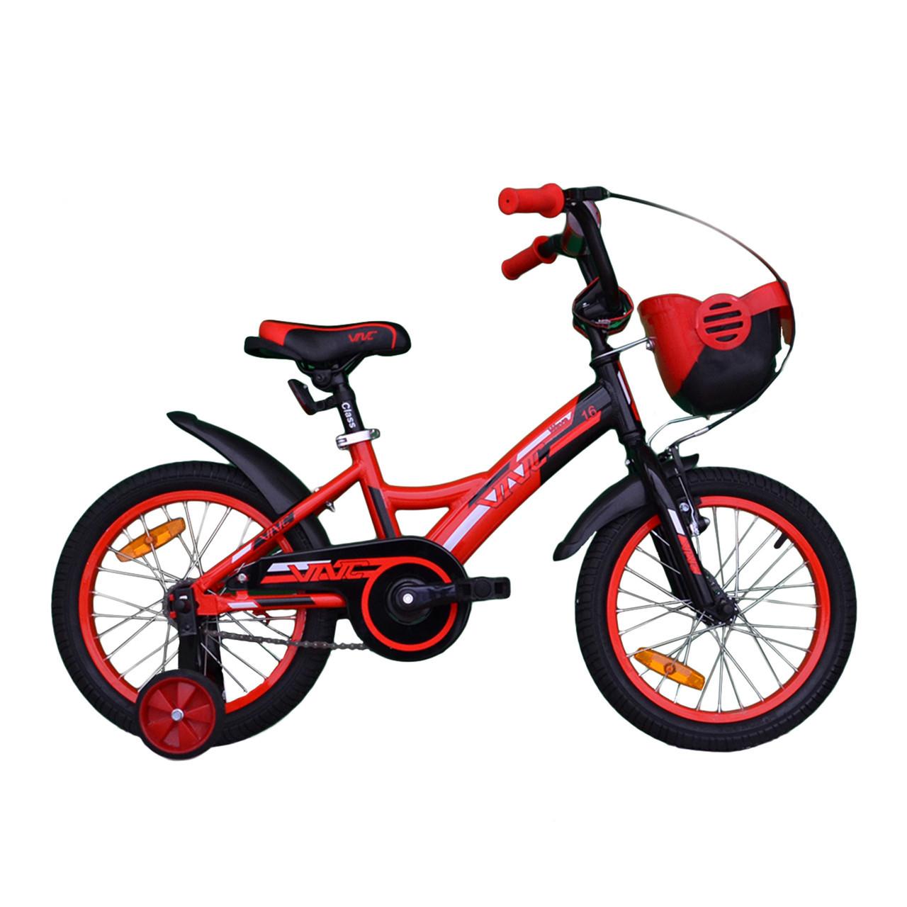 """Велосипед VNC 16"""" Wave, 1619-GA, Красный / Черный 8.5"""""""