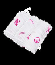 Набір пелюшок Matcstick Monkey зі 100% органічної бавовни Muslin 70х70 см рожеві 3 шт (MM-LOCM-003), фото 2