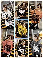 Женская футболка с рисунком-накаткой в расцветках, р-р 44-56. РО-9-0419