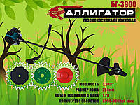 Бензокоса Аллигатор БГ-3900 (3 ножа, 1 леска, 1 паук), фото 1