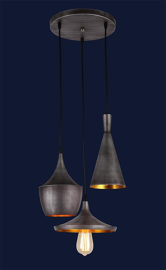 Светильник подвесной LOFT L546581-3 Gray