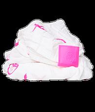 Набір пелюшок зі 100% органічної бавовни Muslin 120х120 см (колір рожевий, 2 шт), фото 3