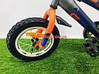 Детский велосипед Azimut Stitch 12 дюймов серый, фото 4