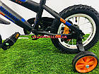 Детский велосипед Azimut Stitch 12 дюймов серый, фото 5