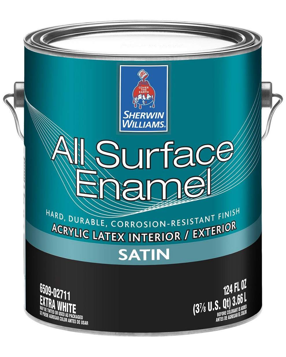 Эмаль All Surface Enamel Satin Sherwin-Williams экстра белая полуматовая, 3,66л (ол сурфейс шервин вильямс)