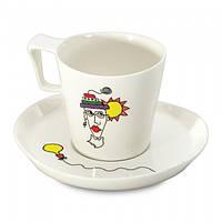 Чашка для завтраков Eclipse, с блюдцем 400 мл, (2 шт.)