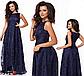 Выпускное платье в пол с напылением (бордовый) 828514, фото 5