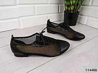 """Балетки, мокасины черные """"Bonet"""" эко кожа + сетка , легкая, повседневная, удобная женская обувь"""