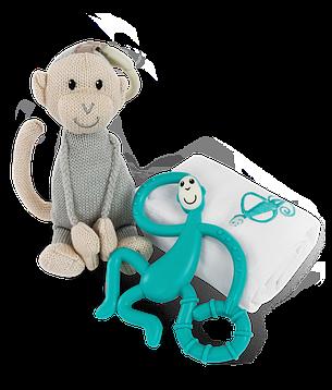 Набор Matcstick Monkey Green пеленка прорезыватель игрушка (MM-TGP-008), фото 2