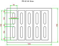 """Пресс форма """"Бетонный блок"""" с закрытым верхом 130х190х390 (для пресса ПВ-12))"""