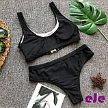 Женский Купальник раздельный черный, фото 2