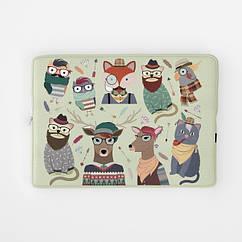 Чехол для ноутбука РишаМясов 11 - 17.3 дюймов с рисунком Хипстозвери (ch00006)