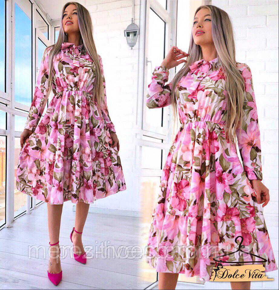 Красивое нежное женское платье разные расцветки