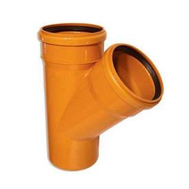 Тройник 160/110 мм канализационный наружный (45 градусов)