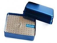 Стерилизатор для боров и эндо файлов (большой) 120 отв., синий, эндолинейка, фото 1